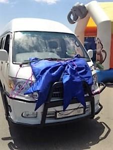 Mini Bus presented to Thuthuzela